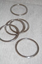 40mm Nickel Ring x 1 Retail
