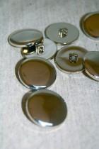 04-B4360 40L Shiny Silver Shank Button  x 1 RETAIL