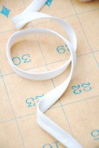 10mm White Polycotton Twill Double Fold Bias Binding x 1m