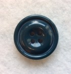 17-1027 54L Teal Chunky Coat Button x 1
