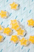 Yellow Star Button 20L x 5