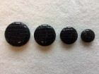 17-1074 B Lasered Black Smartie Button
