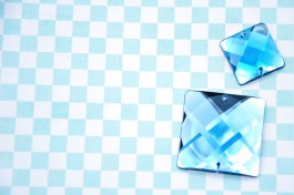 Sew On Acrylic Faceted Gem - Blue  x 1