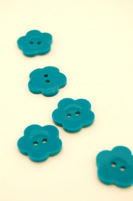 32L Turquoise Flower Button
