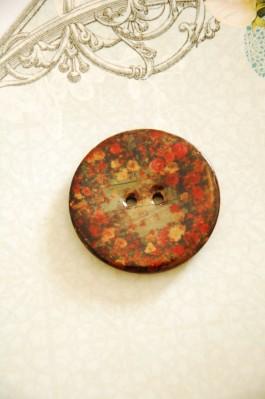 63-H6263 64L Lacquered Coconut Button