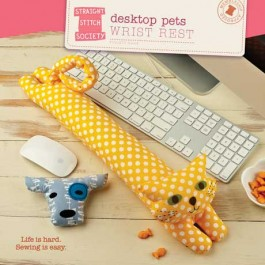 Desktop Pets Wrist Rest Pattern - Straight Stitch Society