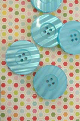 Large Turquoise Button x 1