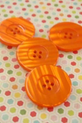 Large Orange Button x 1