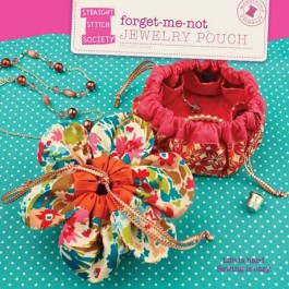 Forget-Me-Not Jewellery Pouch Pattern - Straight Stitch Society