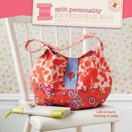Split Personality Reversible Bag Pattern - Straight Stitch Society
