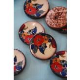 63-A9831 64L Lacquered Coconut Button