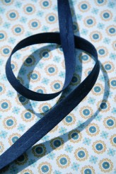 10mm Navy Polycotton Double Fold Bias Binding x 1m