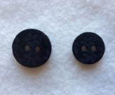 17-1051 Black Lasered 2 hole button x 1
