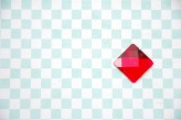 Sew On Acrylic Faceted Gem - Red - 20mm x 1