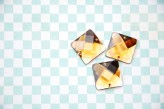 Sew On Acrylic Faceted Gem - Topaz - 20mm x 1