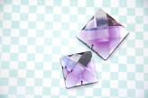 Sew On Acrylic Faceted Gem - Violet  x 1