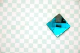 Sew On Acrylic Faceted Gem - Turquoise - 25mm x 1