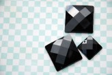 Sew On Acrylic Faceted Gem - Black  x 1