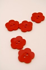 32L Red Flower Button