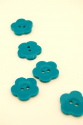 32L Turquoise Flower Button