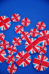 40-31762 Union Jack Button  SALE!