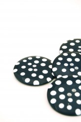 Navy Giant Spotty Button - 80L
