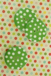 Giant Green Spotty Button - 50mm x 1
