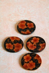 Sakura Flower Coconut Button x 1