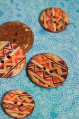 63-A9821 Tribal Coconut Button