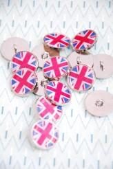 80-A217 32L Union Jack Button - metal and enamel  SALE!