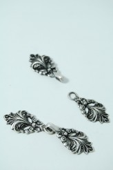 80-G258 Antique Silver Clasp x 1