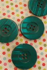 Large Teal Button