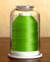 1097 Electric Green Hemingworth Machine Embroidery & Quilting Thread