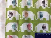 Ele Train Green - Birch Organic Fabrics  Safari Soiree  x 1 metre