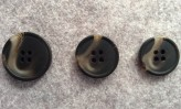 16-1008 Chocolate Brown Horn Effect Button