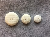17-1074 Lasered White Smartie Button - Very Limited Stock