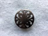 18-S3023 Antique Copper Button x 1