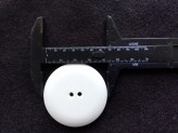 18-S3025 Simple Large White Button x 1