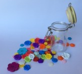 Mini Kilner Jar with Flower Buttons