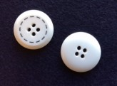 17-1002 White/Black Button X 1