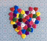 38-3498 heart button X 3