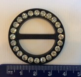Diamante Black Buckle - 25mm x 1