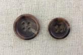 17-1013 Horn Effect Brown Button