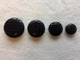 17-1074 B Lasered Black Smartie Button