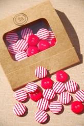 Stripy Matchbook Button Pack