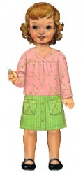 Oliver + S hopscotch skirt, knit top + dress Sewing Pattern