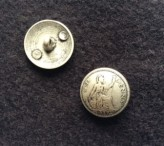 17-1007  Old Penny Metal Shank Button  VERY LIMITED STOCK