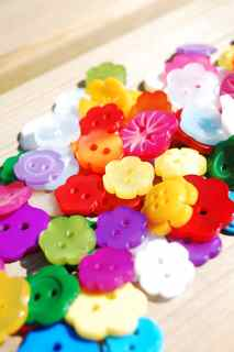 Flowers, Hearts & Other Shapes Buttons