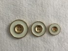 08-B964 Gold  and Ivory Enamel Metal  Button x 1