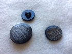 17-1052  x 1 Grey Shank Button